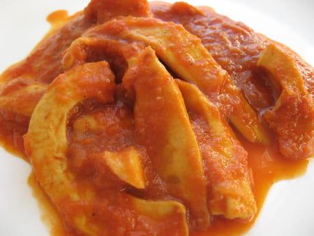curry de lamelles d encornets la recette facile