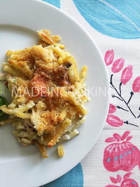 gratin de macaroni aux fruits de mer la recette facile. Black Bedroom Furniture Sets. Home Design Ideas
