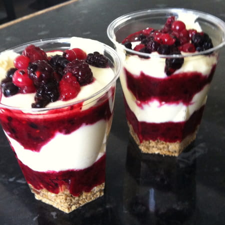 Tiramisu aux fruits rouges en verrine avis sur la recette for Dessert aux fruits en verrine