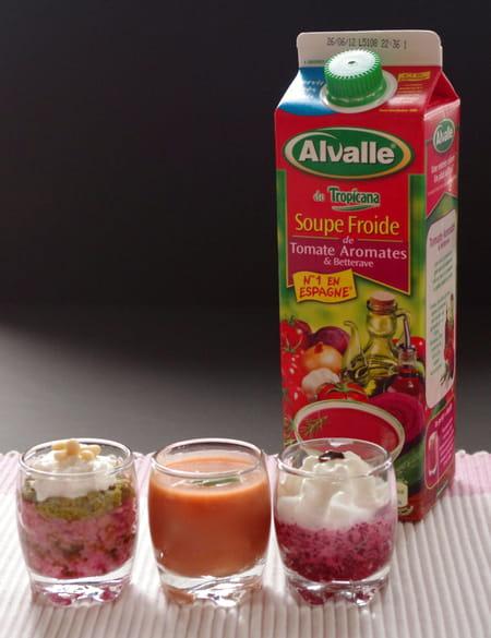 soupe froide de tomate aromates betterave alvalle et son. Black Bedroom Furniture Sets. Home Design Ideas