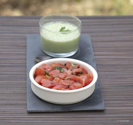 Tartare de tomate coeur de boeuf past que et c pres la - Comment cuisiner le coeur de boeuf en tranche ...