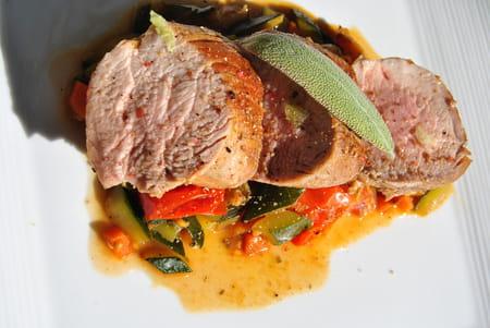 Filet mignon de porc aux l gumes la recette facile - Cuisiner filet mignon de porc ...