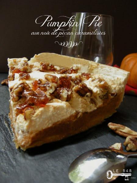 pumpkin pie aux noix de p can caram lis es la recette facile. Black Bedroom Furniture Sets. Home Design Ideas