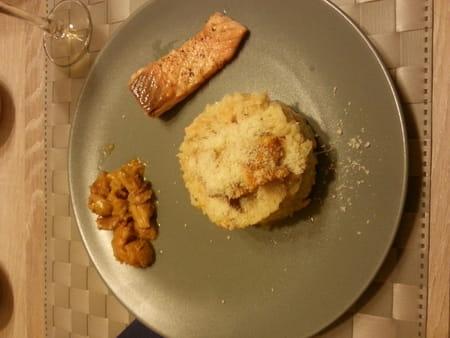 risotto au saumon cr me au parmesan avis sur la recette. Black Bedroom Furniture Sets. Home Design Ideas