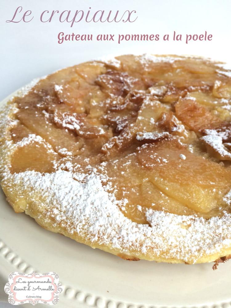 Recette de le crapiaux g teau aux pommes la po le la recette facile - Cuisiner les topinambours a la poele ...