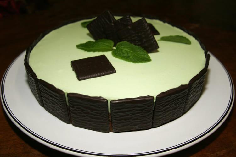 Entremet au chocolat blanc et After-Eight