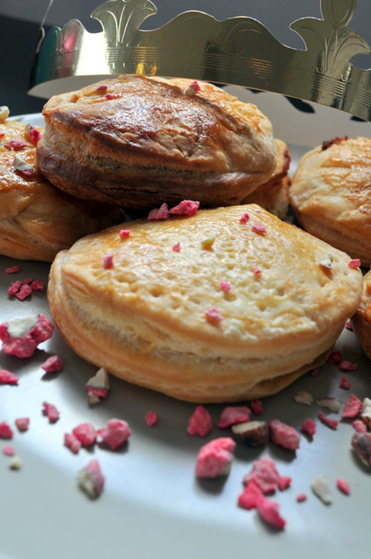 recette de galette frangipane chocolat blanc pralin rose