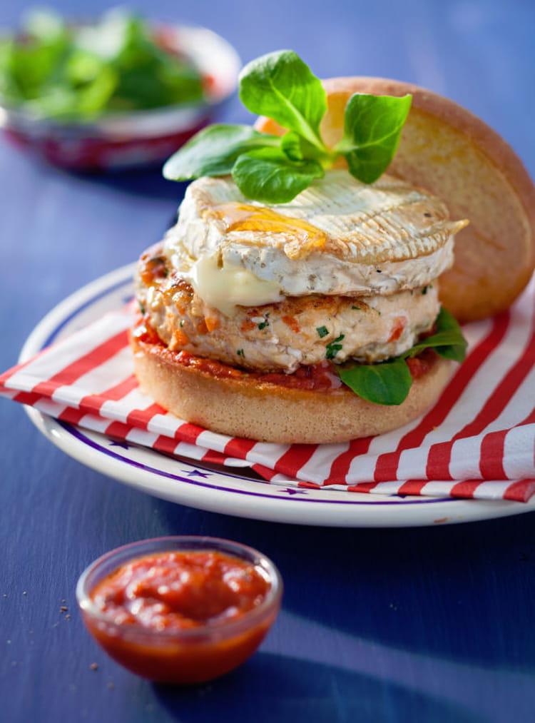 recette de burger parisien au poulet la recette facile. Black Bedroom Furniture Sets. Home Design Ideas