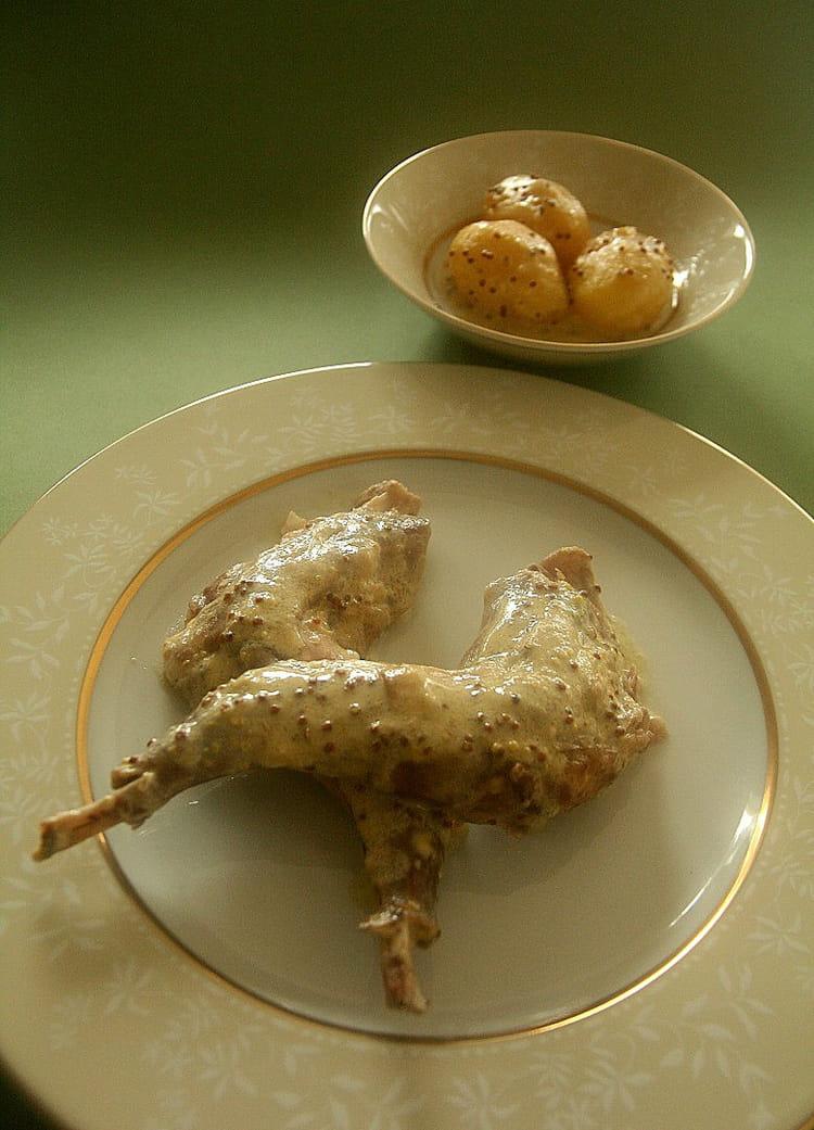 Recette de lapin au vin blanc et la moutarde la - Cuisine lapin au vin blanc ...