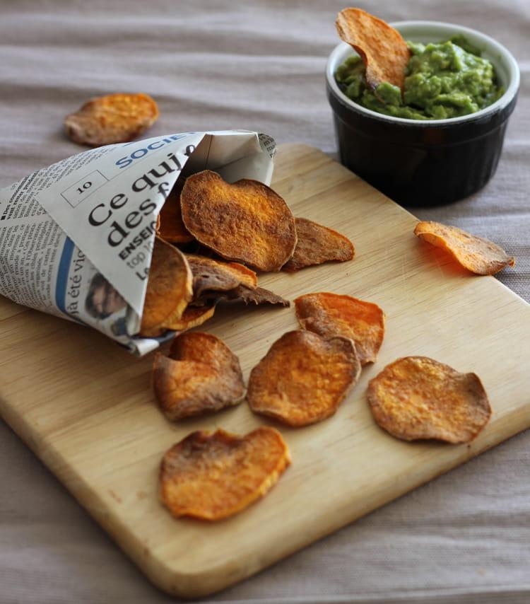 Recette de chips de patate douce la recette facile - Cuisiner patate douce poele ...