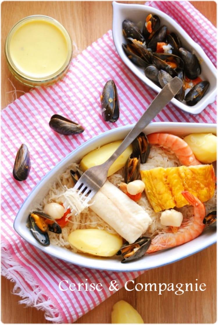 Recette choucroute de la mer poisson - Cuisiner choucroute crue ...