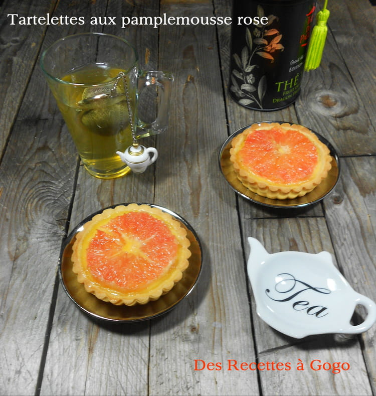 recette de tartelettes au pamplemousse rose la recette facile. Black Bedroom Furniture Sets. Home Design Ideas
