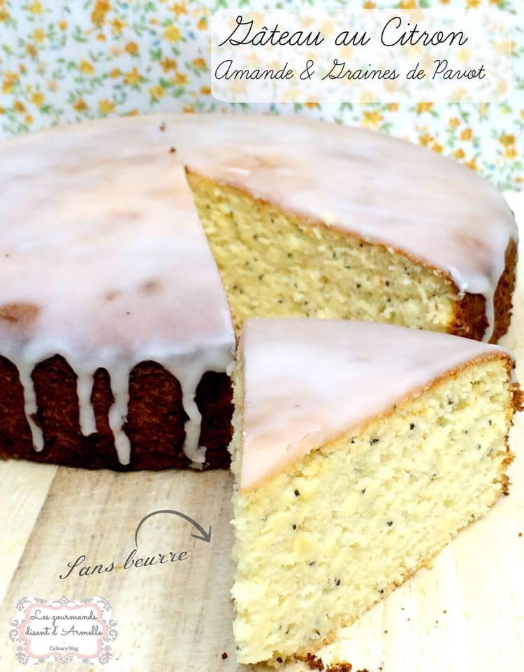 Recette de g teau au citron amandes et graines de pavot sans beurre sans lactose sans gluten - Gateau sans oeuf et sans beurre ...