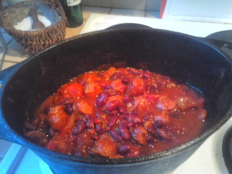 Recette de saucisse fum e haricots rouge la recette facile - Cuisiner des saucisses fumees ...
