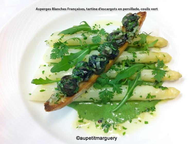 Recette asperges blanches fran aises tartine d escargots - Cuisiner des asperges blanches ...