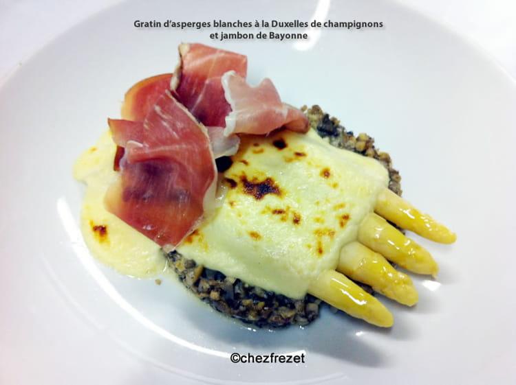 Recette de gratin d asperges blanches la duxelles de - Cuisiner des asperges blanches ...
