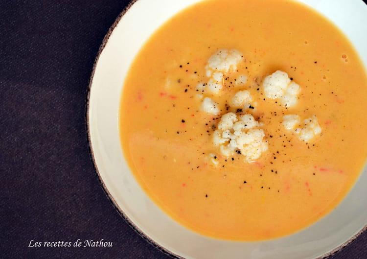 recette de soupe au chou fleur aux 3 poivrons et. Black Bedroom Furniture Sets. Home Design Ideas