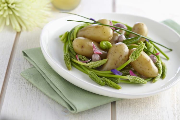 Nid d 39 asperges et fine de ratte du touquet en salade la recette facile - Cuisiner la ratte du touquet ...