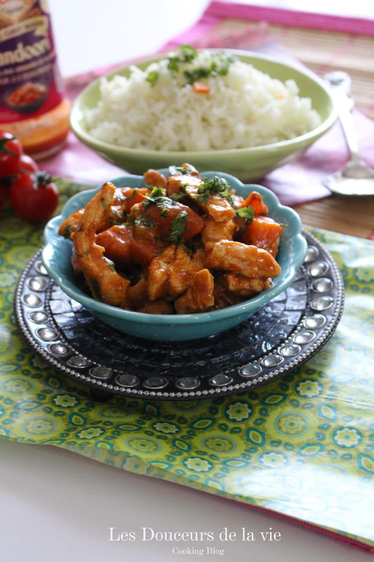 recette eminc s de poulet sauce tandoori la recette facile. Black Bedroom Furniture Sets. Home Design Ideas