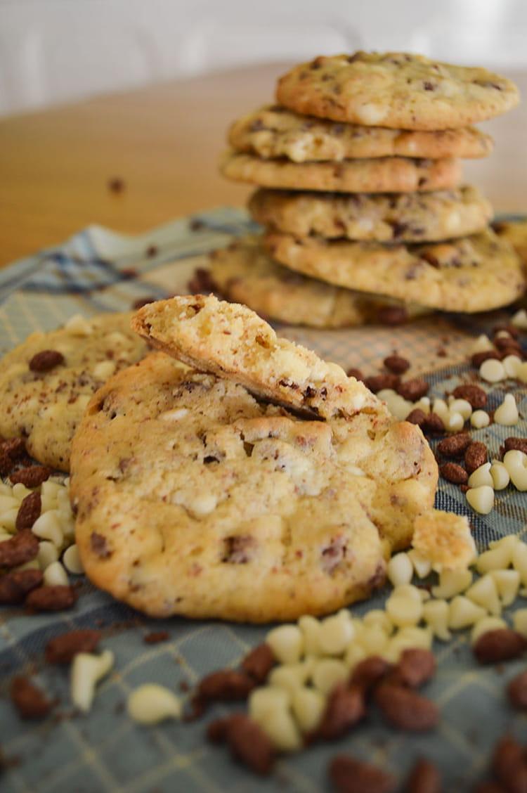 Recette de cookies chocolat blanc et riz souffl la - Cuisiner du riz blanc ...