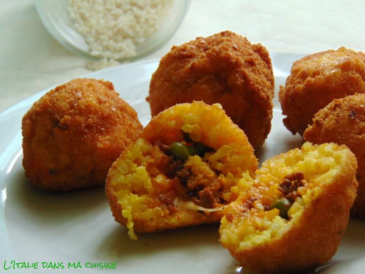 Recette arancini riz plat - Cuisine sicilienne arancini ...