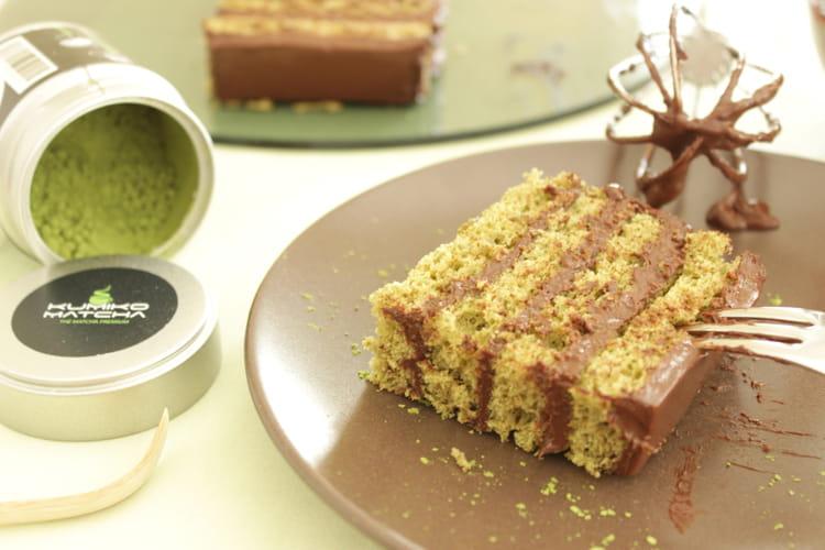 recette de g teau chocolat et th matcha sans beurre la recette. Black Bedroom Furniture Sets. Home Design Ideas