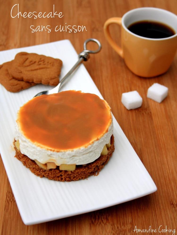 recette de cheesecake sans cuisson aux sp 233 culoos pommes et confiture de lait la recette facile