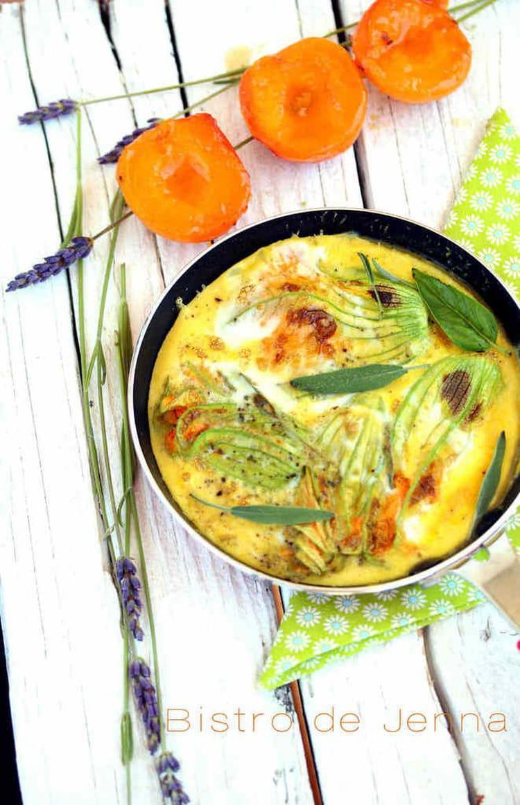 Recette omelette aux fleurs de courgette et brochette de - Cuisiner avec la sauge ...