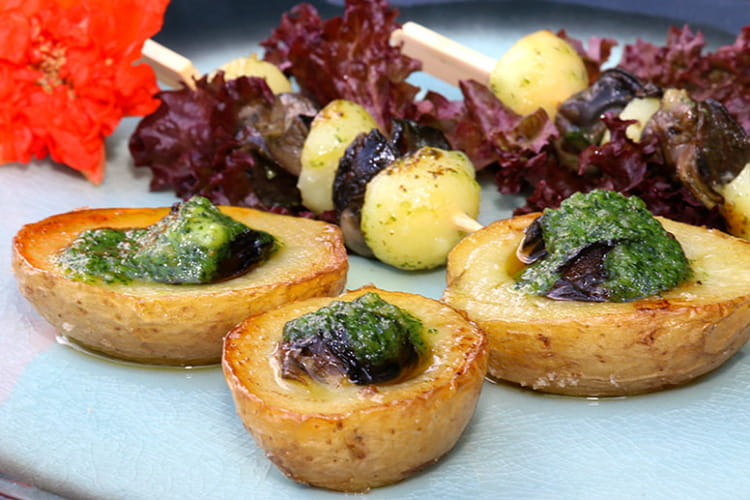 recette de pommes de terre farcies aux escargots la recette facile. Black Bedroom Furniture Sets. Home Design Ideas