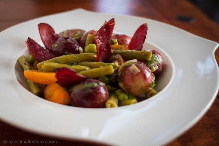 recette de salade de haricots verts raisin magrets de canard fum la recette facile. Black Bedroom Furniture Sets. Home Design Ideas