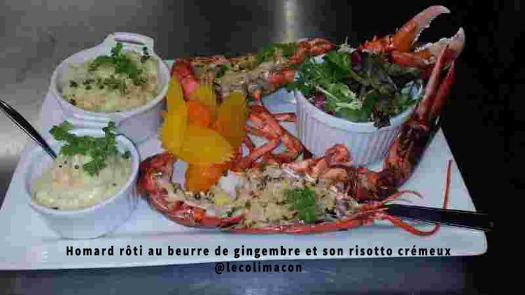 Recette de homard r ti au beurre de gingembre et son - Cuisiner le homard vivant ...