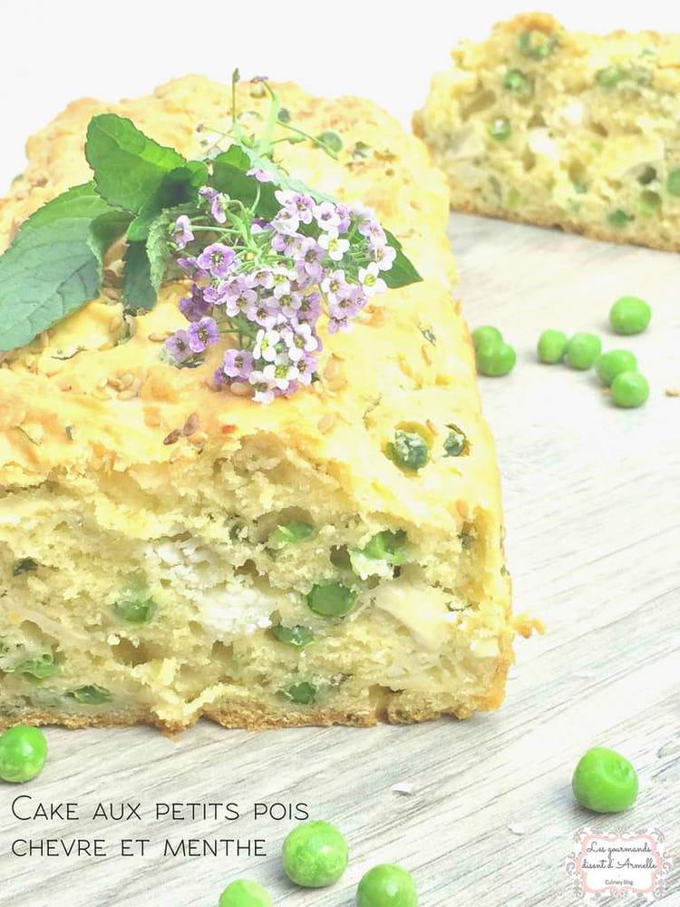 cake aux petits pois chevre et menthe