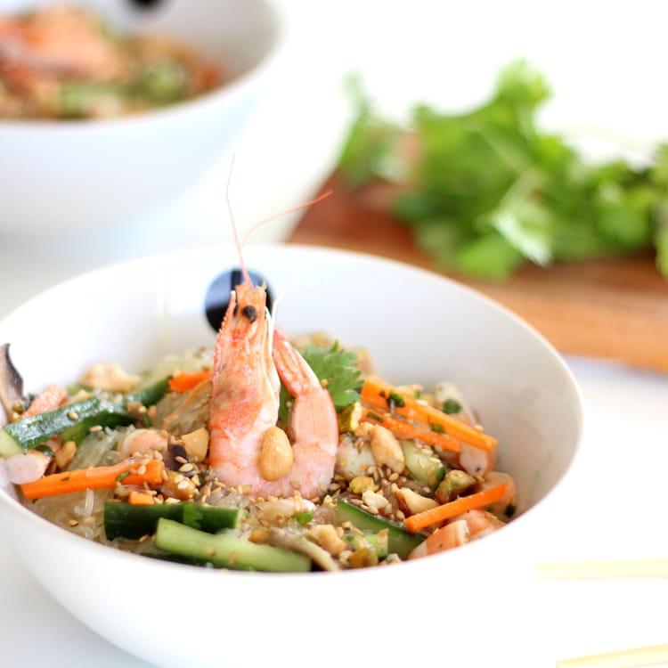 recette de salade de vermicelles de riz et crevettes la recette facile. Black Bedroom Furniture Sets. Home Design Ideas
