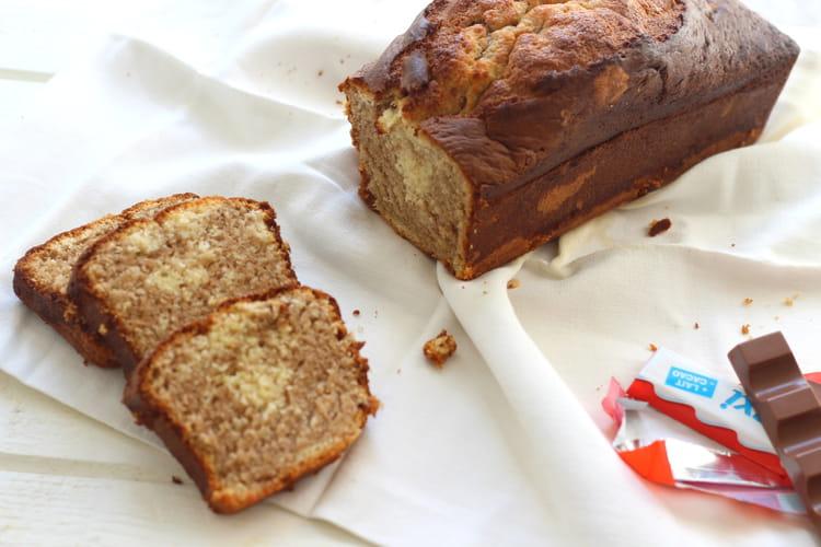 Recette de cake marbr au kinder la recette facile - Gateau deco kinder ...