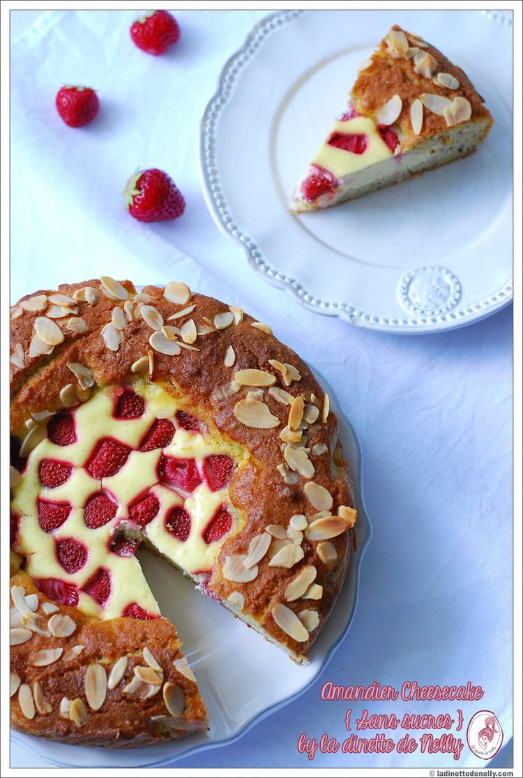 amandier fa on cheesecake aux fraises sans sucre la recette facile. Black Bedroom Furniture Sets. Home Design Ideas