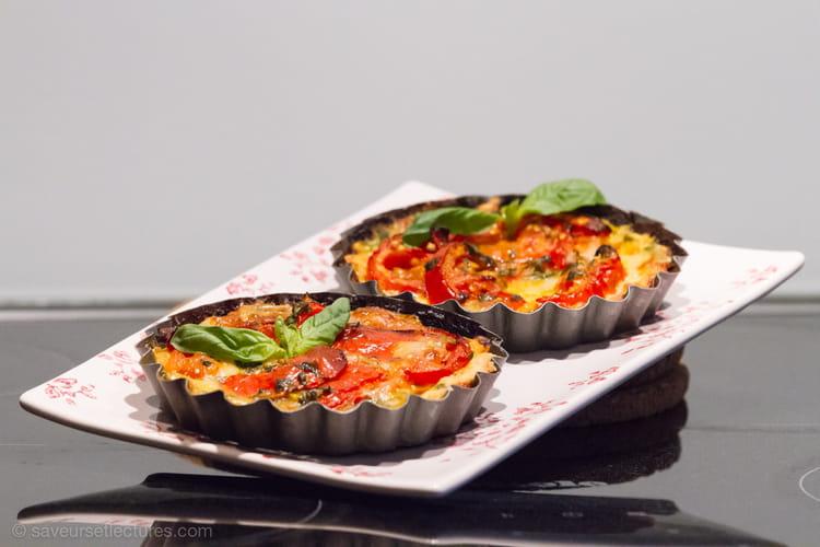 recette de tartelettes tomates mozzarella et basilic la recette facile. Black Bedroom Furniture Sets. Home Design Ideas