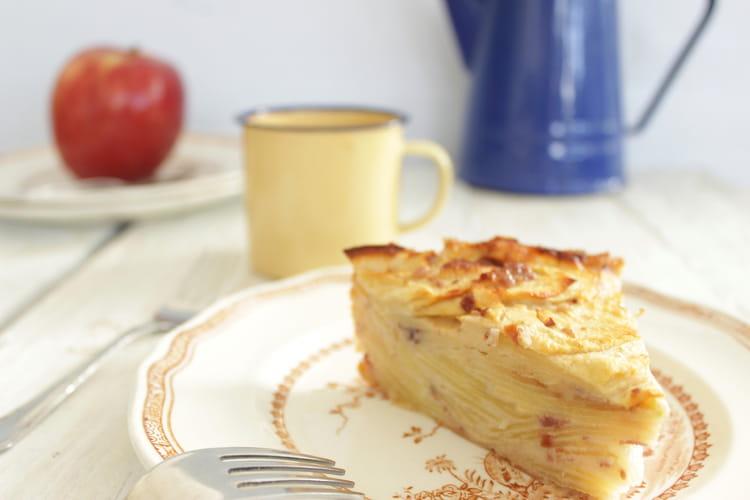 recette de g teau invisible aux pommes sans sucre ni beurre la recette facile. Black Bedroom Furniture Sets. Home Design Ideas