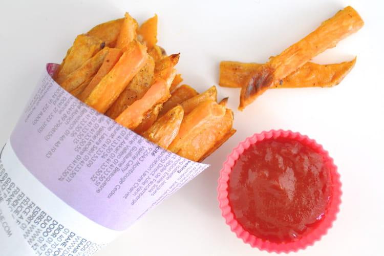 recette de frites de patates douces au four la recette facile. Black Bedroom Furniture Sets. Home Design Ideas