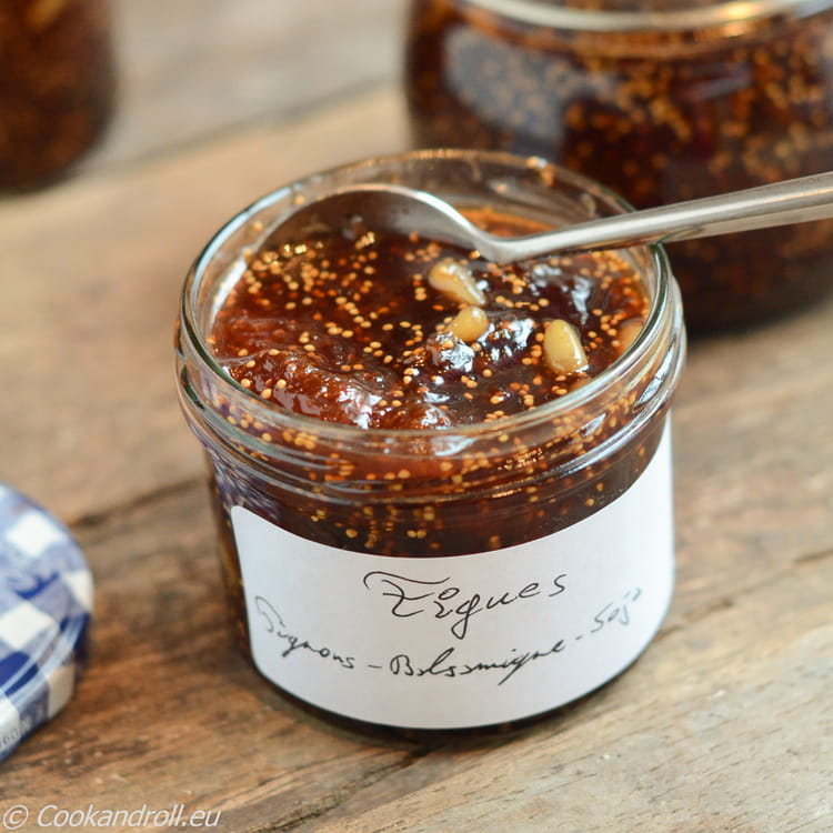 recette de chutney de figues aux pignons soja et basamique la recette facile. Black Bedroom Furniture Sets. Home Design Ideas