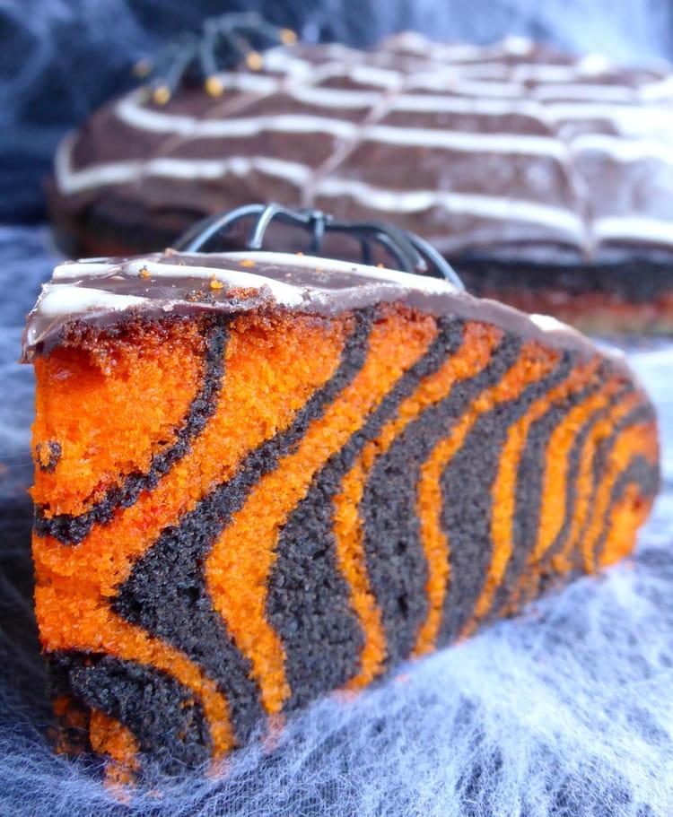 Recette de g teau d halloween facile zebra cake la recette facile - Recette gateau halloween facile ...