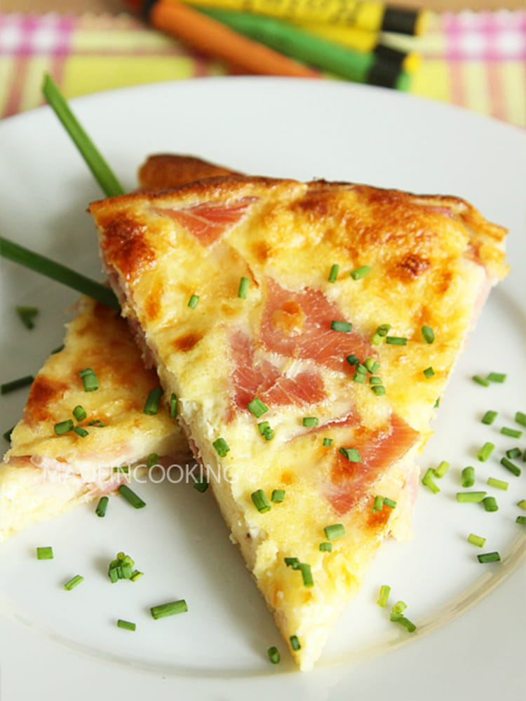 recette de quiche lorraine sans p te au jambon la. Black Bedroom Furniture Sets. Home Design Ideas