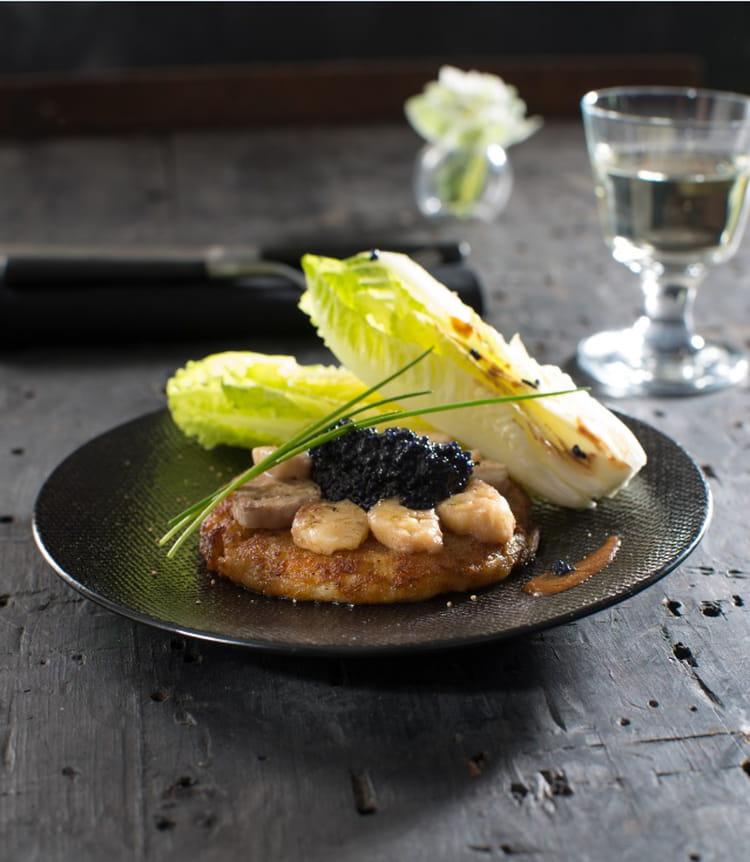 Galette de ratte du touquet la moelle de b uf et au caviar la recette - Cuisiner la ratte du touquet ...