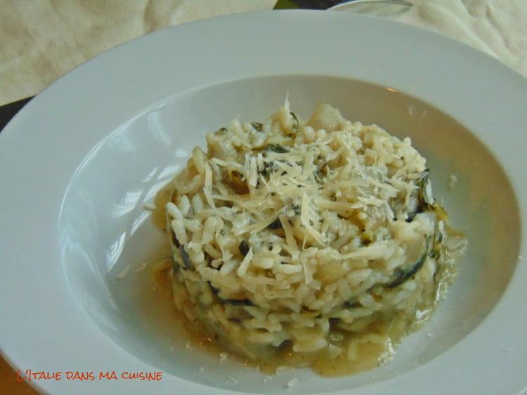 Recette de risotto aux c tes de blettes et anchois la - Cuisiner des cotes de blettes ...
