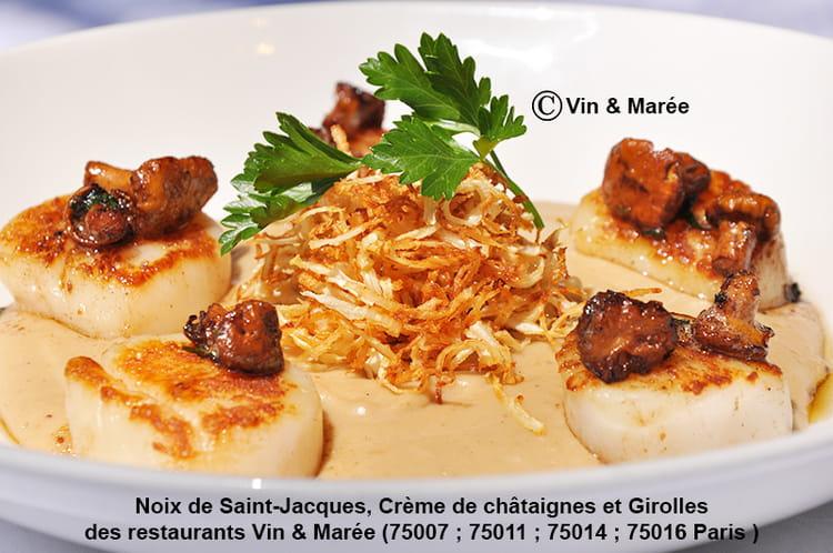 Recette de noix de saint jacques cr me de ch taignes et - Cuisiner noix saint jacques ...