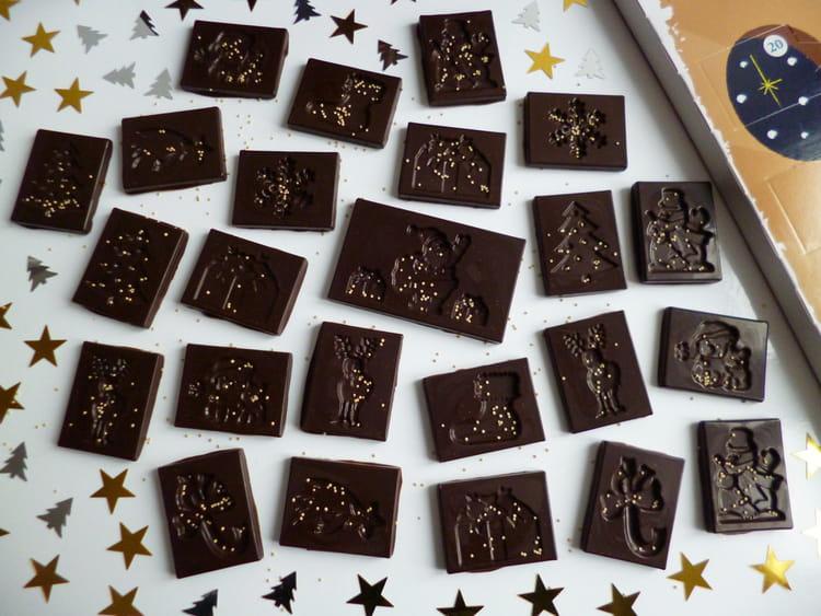 recette de calendrier de l 39 avent chocolat maison la recette facile. Black Bedroom Furniture Sets. Home Design Ideas