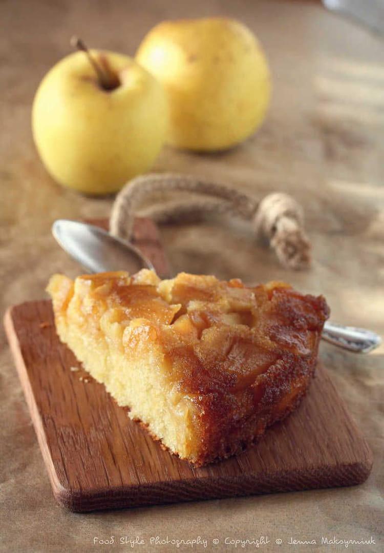 recette de g teau renvers aux pommes confites la. Black Bedroom Furniture Sets. Home Design Ideas
