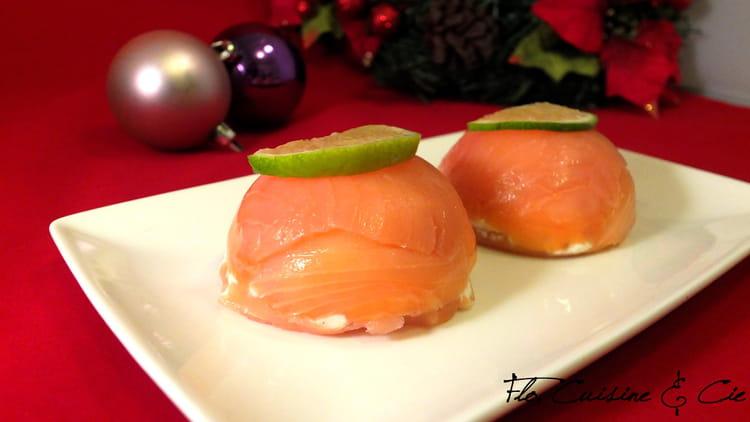 Recette de d me de saumon la recette facile - Entree simple et raffinee ...