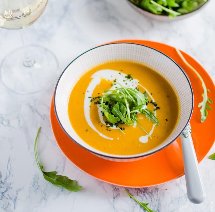 Soupe de carotte au curry et lait de coco la recette facile - Soupe potiron lait de coco curry ...