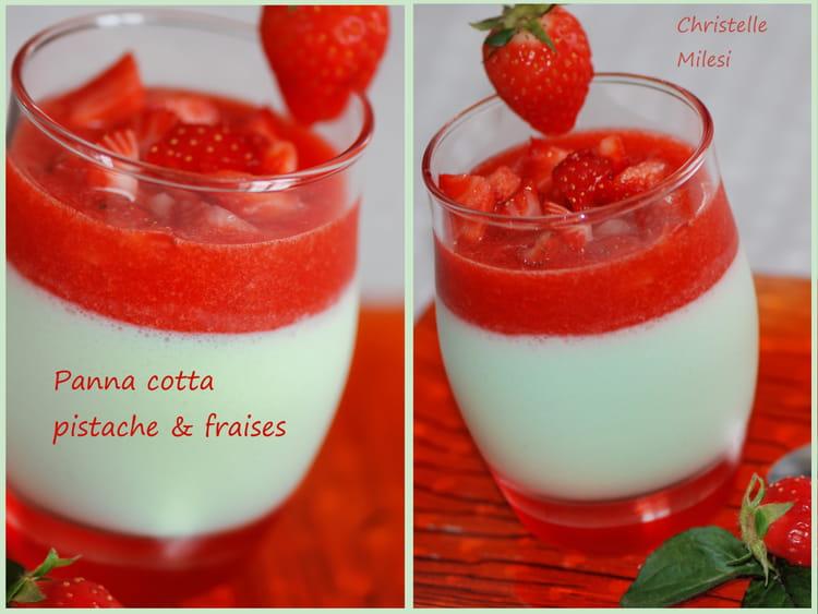 recette de panna cotta pistache fraises la recette facile. Black Bedroom Furniture Sets. Home Design Ideas
