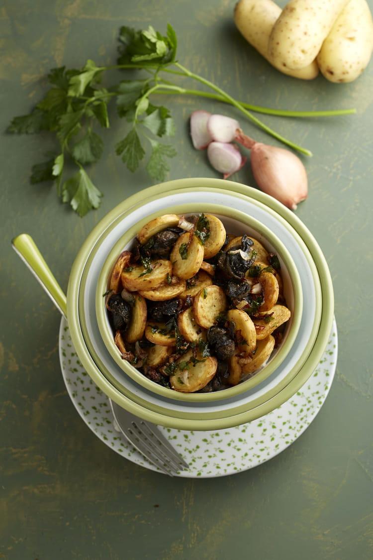 Ratte du touquet et sa fricass e d escargots en persillade la recette facile - Cuisiner la ratte du touquet ...
